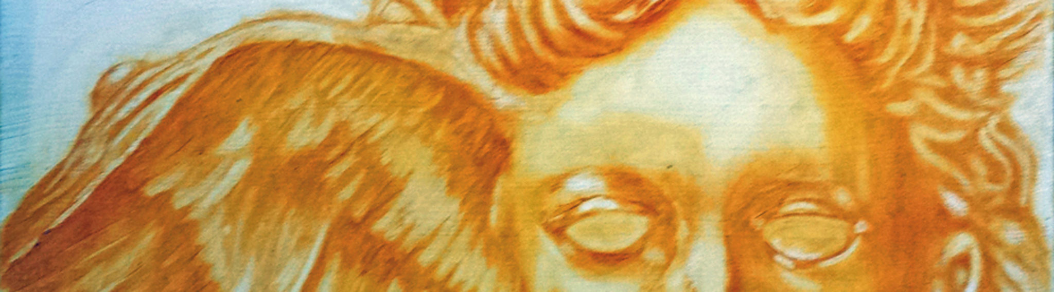 Hypnos Greek God of Sleep and Dreams. A painting by Minneapolis artist Roger Williamson